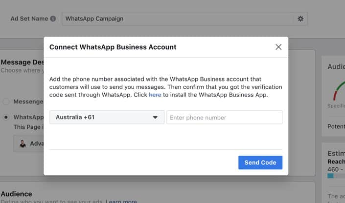 Whatsapp-confirm-business-account-facebook-ads