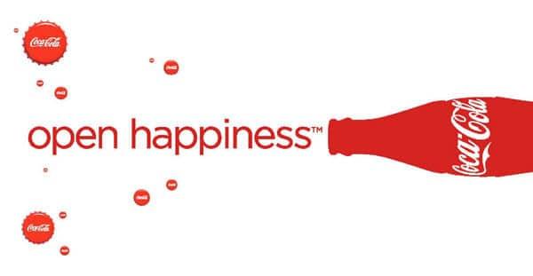coca cola logo happiness