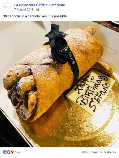 hospitality marketing La-dolce-vita-milton-cannoli